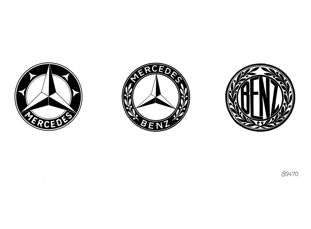 Logos Mercedes, Mercedes-Benz y Benz & Cie.