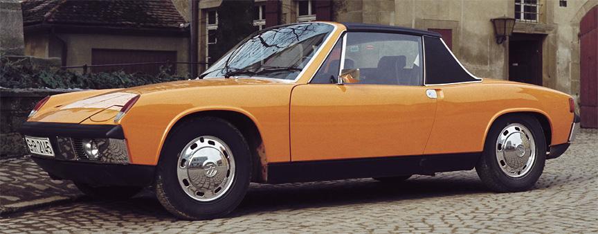 Porsche 914-4: Porsche intenta lanzar en los 70 otro deportivo de acceso. No perdáis de vosta el logo de las llantas... - Foto: Stuttcars.com