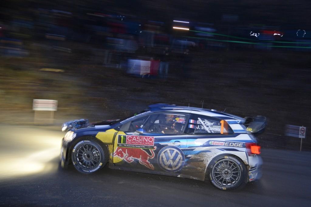 Sébastien Ogier (F), Julien Ingrassia (F) Volkswagen Polo R WRC (2015) WRC Rally Monte Carlo 2015