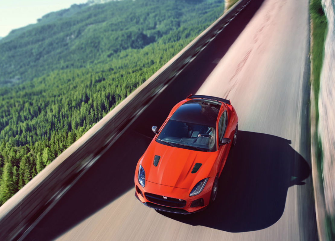Jaguar F-Type SVR - filtración_vista superior