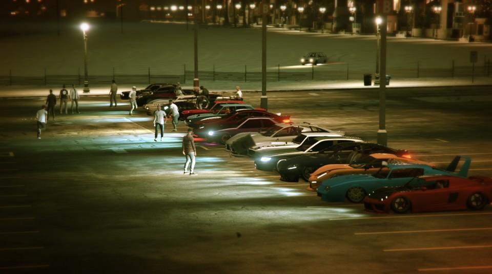 Uno de los aspectos más llamativos del mundo online de GTA V es que los jugadores pueden exhibir sus coches en quedadas por todo el mapa que ellos mismo organizan