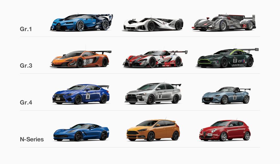Las 4 categorías en las que se desarrollará GT Sport