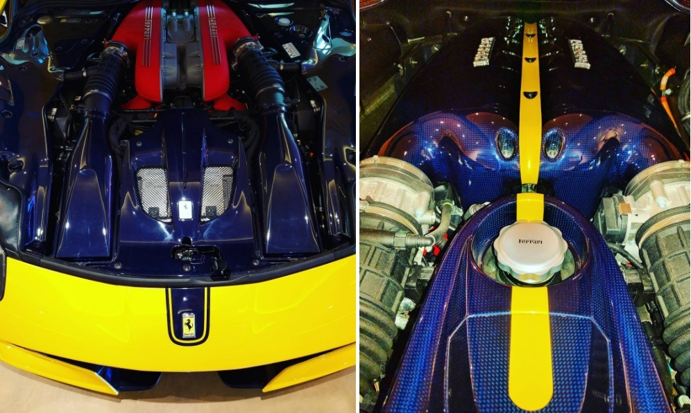 Colección Ben Sloss_cubiertas motores Ferrari F12tdf & LaFerrari_fibra carbono