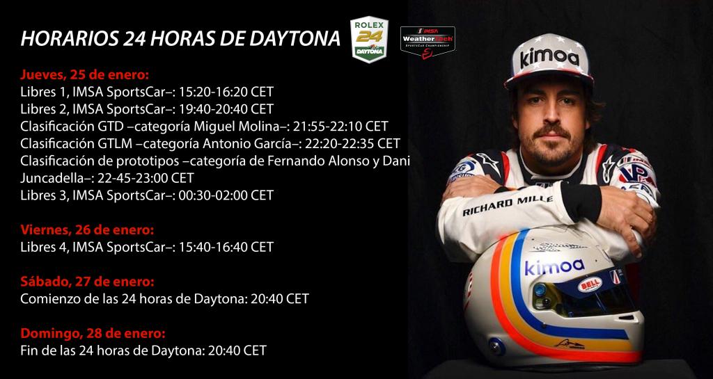 Horarios 24 Horas Daytona