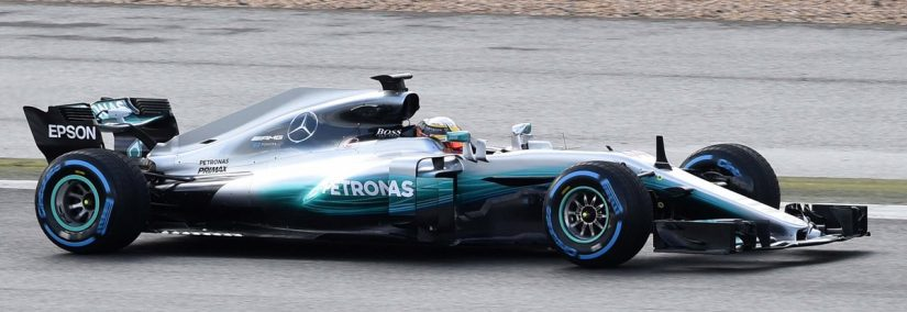 Mercedes W08 F1 2017 Spotted